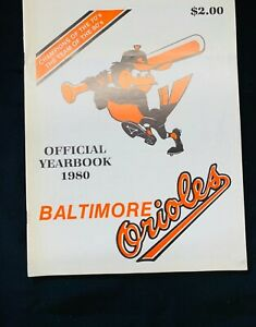 1980 BALTIMORE ORIOLES Yearbook EDDIE MURRAY Jim PALMER Ken Singleton AL BUMBRY