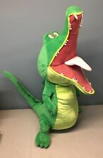 "Peter Pan Crocodile Swampy Tic Toc Crock Disney Store 30"" Plush w/ Sound"