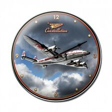 "TWA Lockheed Constellation 14"" Round Clock LG619 Trans World Airlines"
