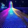 Guirlande lumineuse LED féérique filet maille Rideau Noël Mariage Fête extérieur