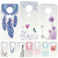 Pattern Cover Slim Soft TPU Silicone Phone Case For Motorola Moto G7 Power Play