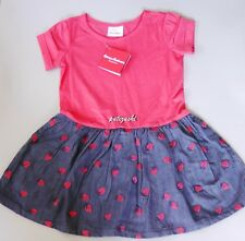 NWT Hanna Andersson Cotton Sunny Playdress with Embroidery Strawberry, Red, $46