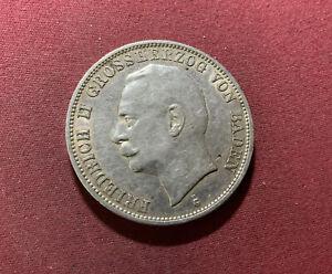 Baden 5 Mark 1913 G Silber