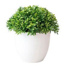 Artificial Pot Plant Bonsai Fake Grass Leaf Ball For Home Office Desk Decoration