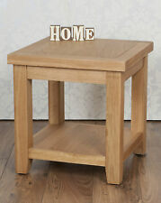 Solid Oak Natural Bedside Lamp Side Table in Chunky Harrogate Natural