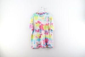 Vintage Streetwear Mens Large Distressed Tie Dye Short Sleeve T-Shirt Trippy