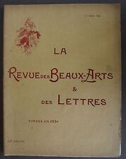 REVUE DES BEAUX ARTS & DES LETTRES 1897 - GEROME - CHASSERIAU