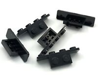 Lego Lot of 5 New Black Brackets 1 x 2 - 1 x 4 with Rounded Corners Pieces
