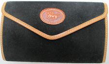 -AUTHENTIQUE portefeuille  cuir & toile  TBEG vintage 70's