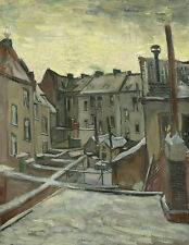Houses seen from the back Vincent van Gogh Häuser Stadt Hinterhof B A3 03394