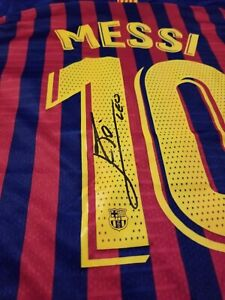 LIONEL MESSI PERSONALLY HAND SIGNED BARCELONA 2019/2020 + PROOF + COA