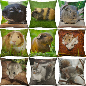 """18"""" Hamster Pattern Home Cotton Linen Waist Cartoon Sofa Pillow Decor Cushion"""
