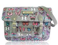Ladies Designer Vintage Crossbody School iPad Polka Dots Spotty Satchel Handbag