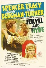 DR. JEKYLL AND MR. HYDE Movie POSTER 27x40 B Spencer Tracy Ingrid Bergman Lana