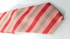 Red And Black Ventura Tie with Stripes Hand Tailored by Tom James FREE SHIPPING