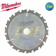 Milwaukee 4932430719 Lama 140mm 18t 20mm foro legno si adatta m12 carburante