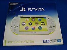PlayStation PS Vita Wi-Fi Console Lime green white PCH-2000ZA13 region free F/S