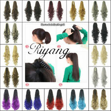 """Women's Hair Ponytail 20"""" Long Loose Curly Banana Claw Extensions Synthetic 50cm"""