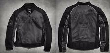 Mens Harley Davidson Willie G Skull Mesh Motorcycle Jacket - L Large 98092-15VM