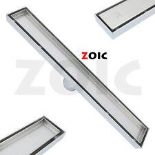 800MM Tile Insert Stainless Steel Linear Shower Grate Channel Floor Drain Waste