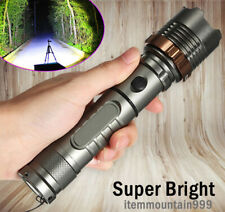 High Powered 900000LM Flashlight T6 LED Tactical Police Camping Torch Zoomable