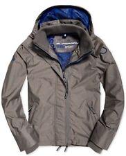 Superdry Men's Track Grey Tech Hood Full Zip Windcheater Jacket