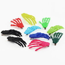 10 PCs Cute Creepy Plastic Skeleton Hand Hair Clip Hairpin for Women Girls GT GT