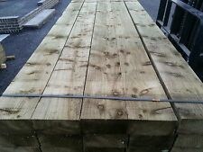 GARDEN RAILWAY SLEEPERS NEW GREEN TREATED  8FT  100mm x 200mm EXCELLENT QUALITY