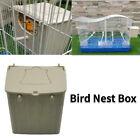 Parakeet House Breeding Mating Box Bird Nest Box Bird Cage Mount Nesting Box