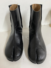 Tabi boots made to order barrel-heeled in black leather or any other color