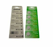 5 X CR1620 LITHIUM CELL CR 1620 EUNICELL BATTERIES KEY FOB 3V