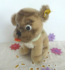 Wunderschöner Steiff Hund Mops Mopsy mit Knopf, Restfahne Schleife 4010/12 12cm