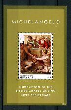 Grenada 2012 MNH Michelangelo Completion Sistine Chapel 1v S/S Art Stamps