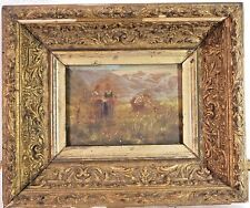 c.1800 ANTIQUE FRENCH PASTORAL BARBIZON ENGLISH SCHOOL BUCOLIC OIL PAINTING