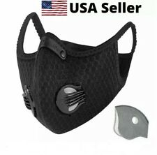 USA SELLER Cycling Air Purifying Face Mask Cover Haze Washable Reusable Filter