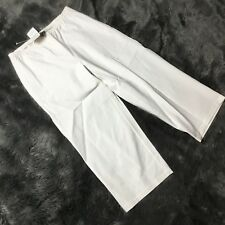 Eileen Fisher White Crop Pants Sz PM NWT Womens Petites Stretch Elastic Waist