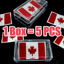 5 x Canada Canadian Flag Embroidered Iron On Patch Quebec Ontario Ottawa Toronto
