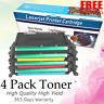 Set of 4 CLP-660 Black Color Toner for Samsung CLP660 CLP610 CLX6200 CLX6210