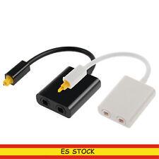 Adaptador de 1 a 2 TosLink / Optical Splitter divisor 1 entrada 2 salida
