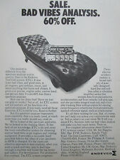 3/1975 PUB ENDEVCO ETC TEST CELL SYSTEM VIBES VIBRATION ORIGINAL AD