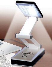 Portable Desk Lamp 24 LED Bulb Bright Light Reading Foldable USB Battery Powered