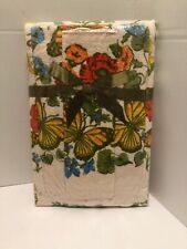 Vintage NEW 3 Pc Towel Set: Bath Hand & Wash Cloth Floral Butterflies