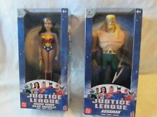 2003 JUSTICE LEAGUE 10 INCH WONDER WOMAN & AQUAMAN LOT OF 2 NEW IN UNOPENED PKG