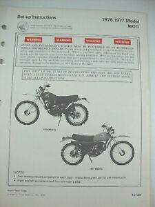 1976 1977 HONDA MR175 ELSINORE GENUINE OEM SET-UP INSTRUCTIONS NEW-OLD-STOCK!!!!