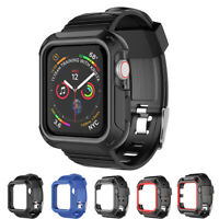 Apple iWatch Series SE/6/5/4/3/2 Case 40/44/42/38mm Rugged Strap Band Wristband