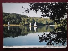 POSTCARD WILTSHIRE SHEARWATER - BOATING ON THE LAKE