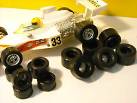 8 + 8  slot car tyres URETHANE  F1 or  PROTO SCALEXTRIC au