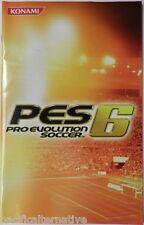 Notice de PRO EVOLUTION SOCCER 6 pes 6 playstation 2 PS2 booklet manual livret