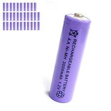 32 pcs AA 2A 3000mAh 1.2V Ni-MH rechargeable battery Solar Light MP3 Toy Purple