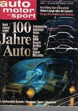 Auto Motor Sport AMS 100 Jahre Auto 2/1986 Mercedes BMW Bugatti Ford Jaguar Benz